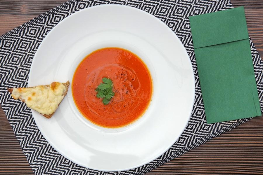 fırınlanmış domates çorbası