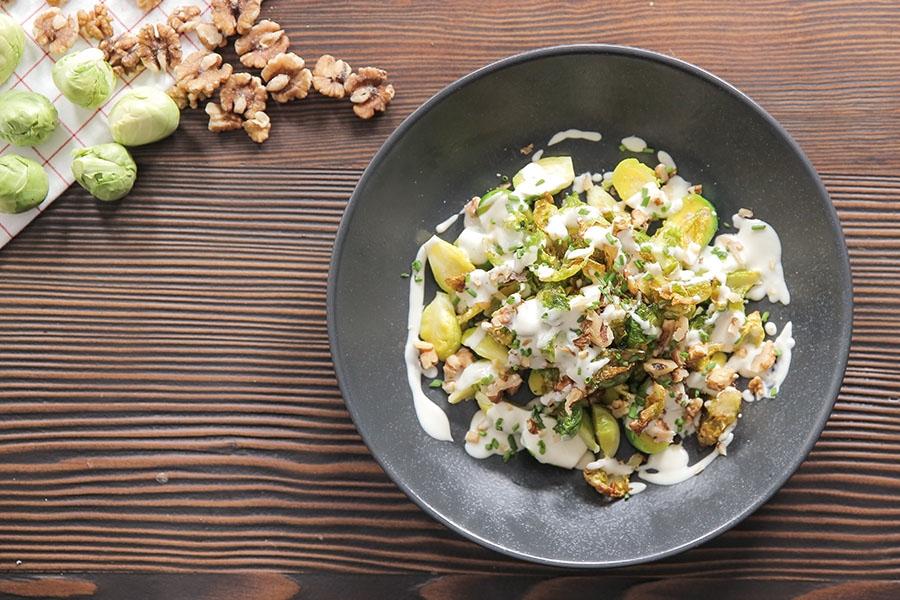 çıtır brüksel lahanası salatası