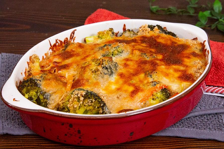 amaranthlı brokoli graten