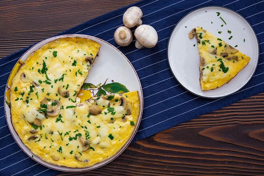 mantarlı kaşarlı omlet