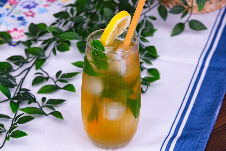 buzlu yeşil çay